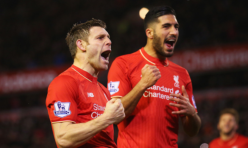James Milner and Emre Can